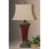 "Uttermost Rosso 36"" H Table Lamp with Empire Shade ..."