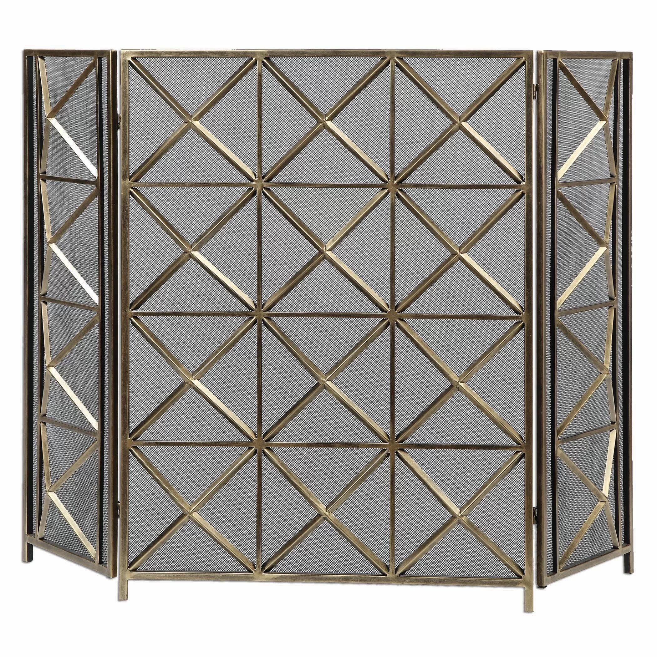 Uttermost Akiva 3 Panel Metal Fireplace Screen Amp Reviews