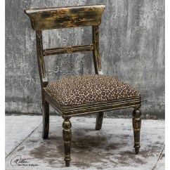 Animal Print Accent Chairs Stool Chair In Uae Uttermost Tambra Leopard Side Wayfair