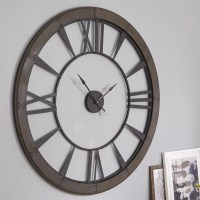 "Uttermost Ronan Oversized 60"" Wall Clock & Reviews 