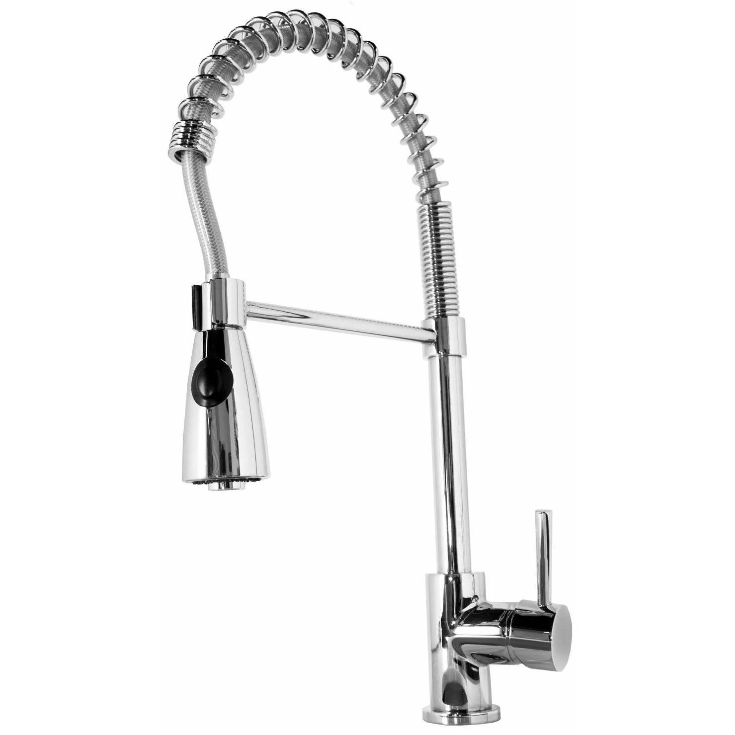 single hole kitchen faucet with pull out spray rolling carts virtu neso handle