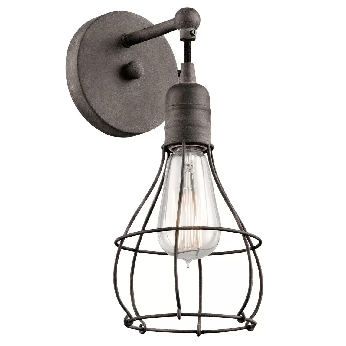 Kichler Industrial 1 Light Wall Sconce & Reviews