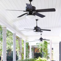"Quorum 52"" Estate 5 Blade Patio Ceiling Fan & Reviews"