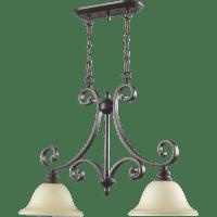 Quorum Bryant 2 Light Kitchen Island Pendant & Reviews ...