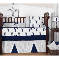 Sweet Jojo Designs Woodland Deer 9 Piece Crib Bedding Set ...