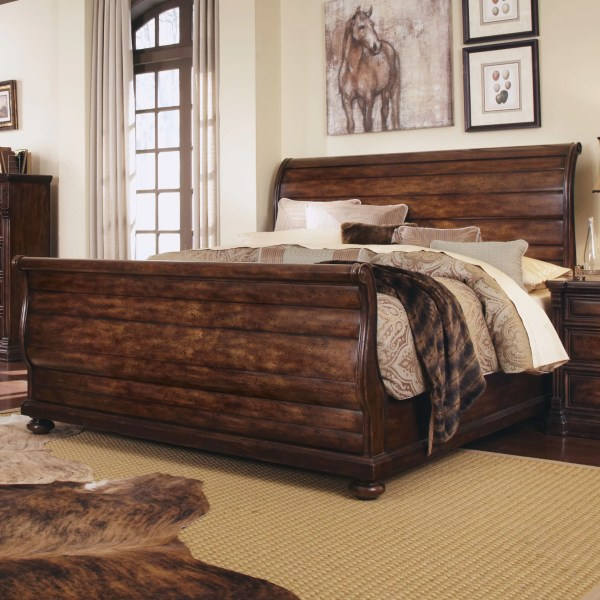 oak sleigh bedroom sets A.R.T. Whiskey Oak Sleigh Customizable Bedroom Set & Reviews | Wayfair.ca