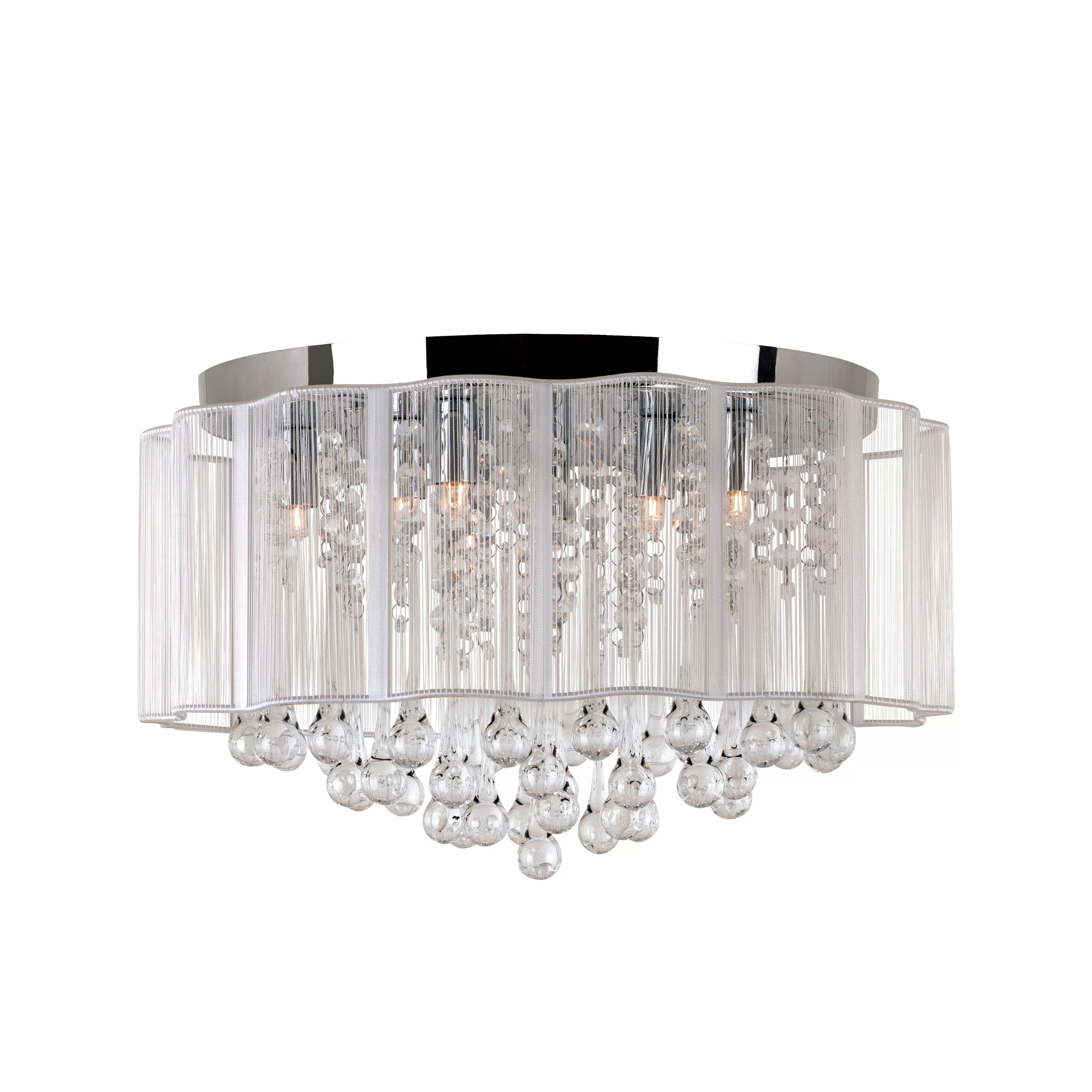 TransGlobe Lighting Veiled Modern 8 Light Flush Mount  Reviews  Wayfair