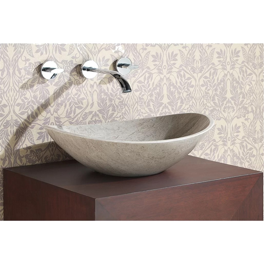 Avanity Oval Stone Vessel Bathroom Sink  Reviews  Wayfair