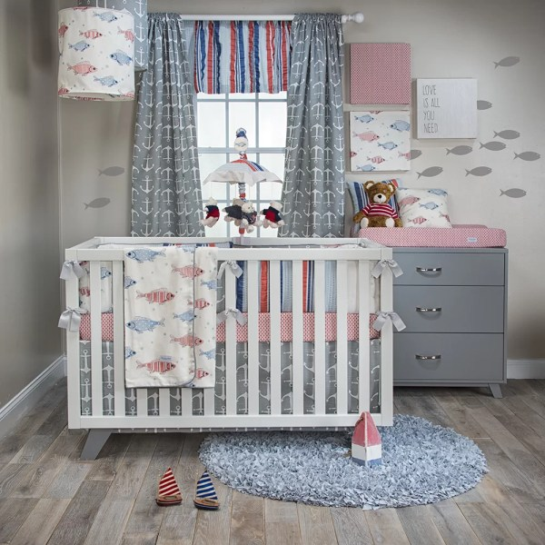 Glenna Jean Fishtales 3 Piece Crib Bedding Set
