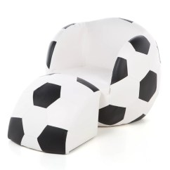 Inflatable Soccer Ball Chair Teddy Bear Gift Mark Kids Novelty And Ottoman