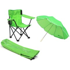 Kids Camp Chair With Umbrella Posture Support Cushion Redmon For Camping Cup Holder