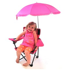 Kids Camp Chair With Umbrella Mexican Dining Room Table And Chairs Redmon For Camping Cup Holder