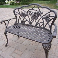 Oakland Living Butterfly Aluminum Garden Bench & Reviews ...
