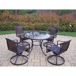 Wicker Swivel Outdoor Dining Chair Folding Floor Sofa Oakland Living Tuscany Arm And Reviews
