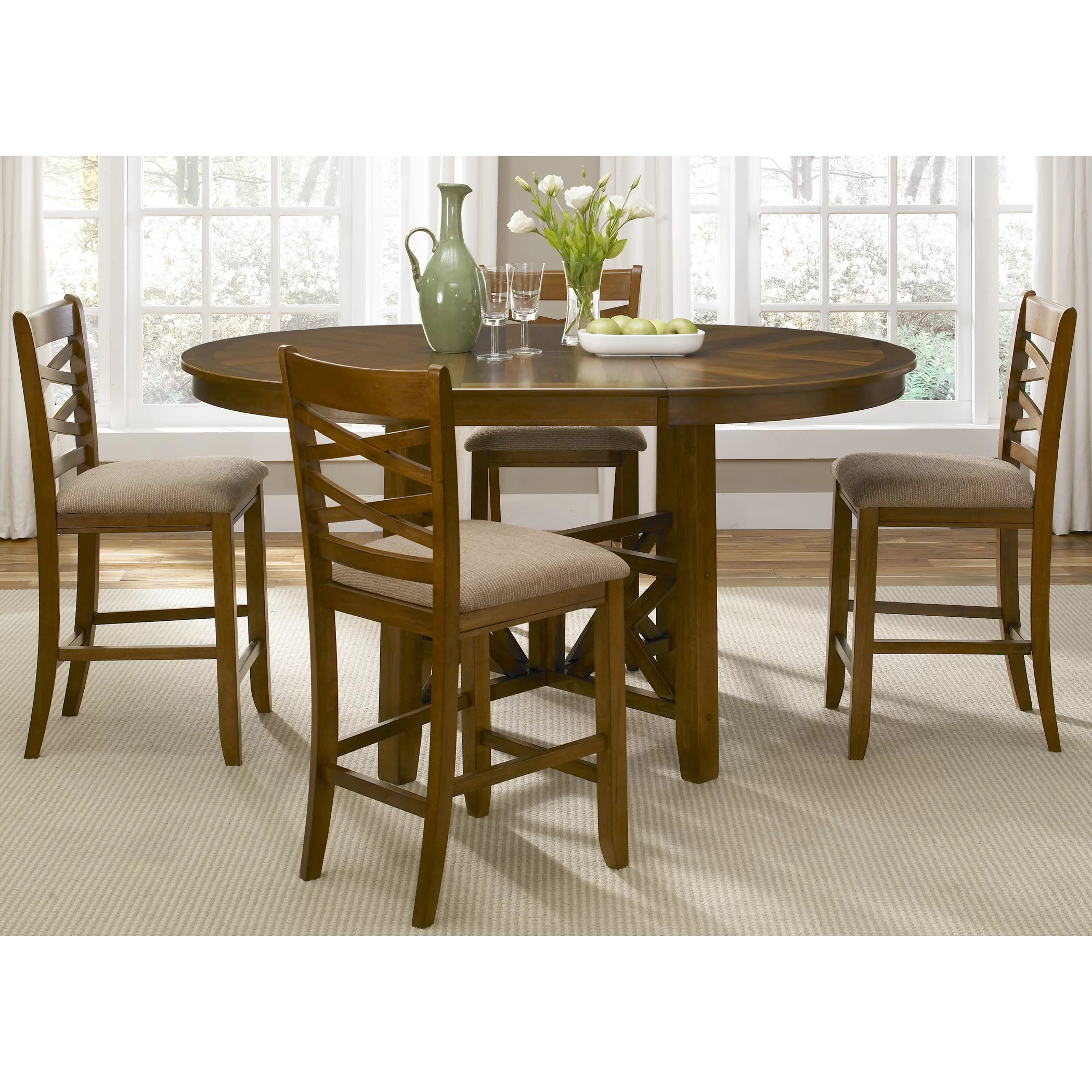 bistro chairs dining room wooden frame beach liberty furniture 5 piece set and reviews