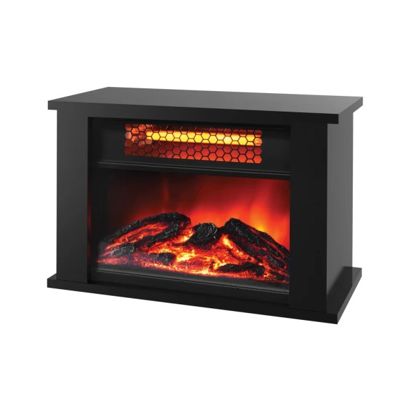 Lifesmart Lifezone 750 Watts Table Top Infrared Heater With Fireplace Display &