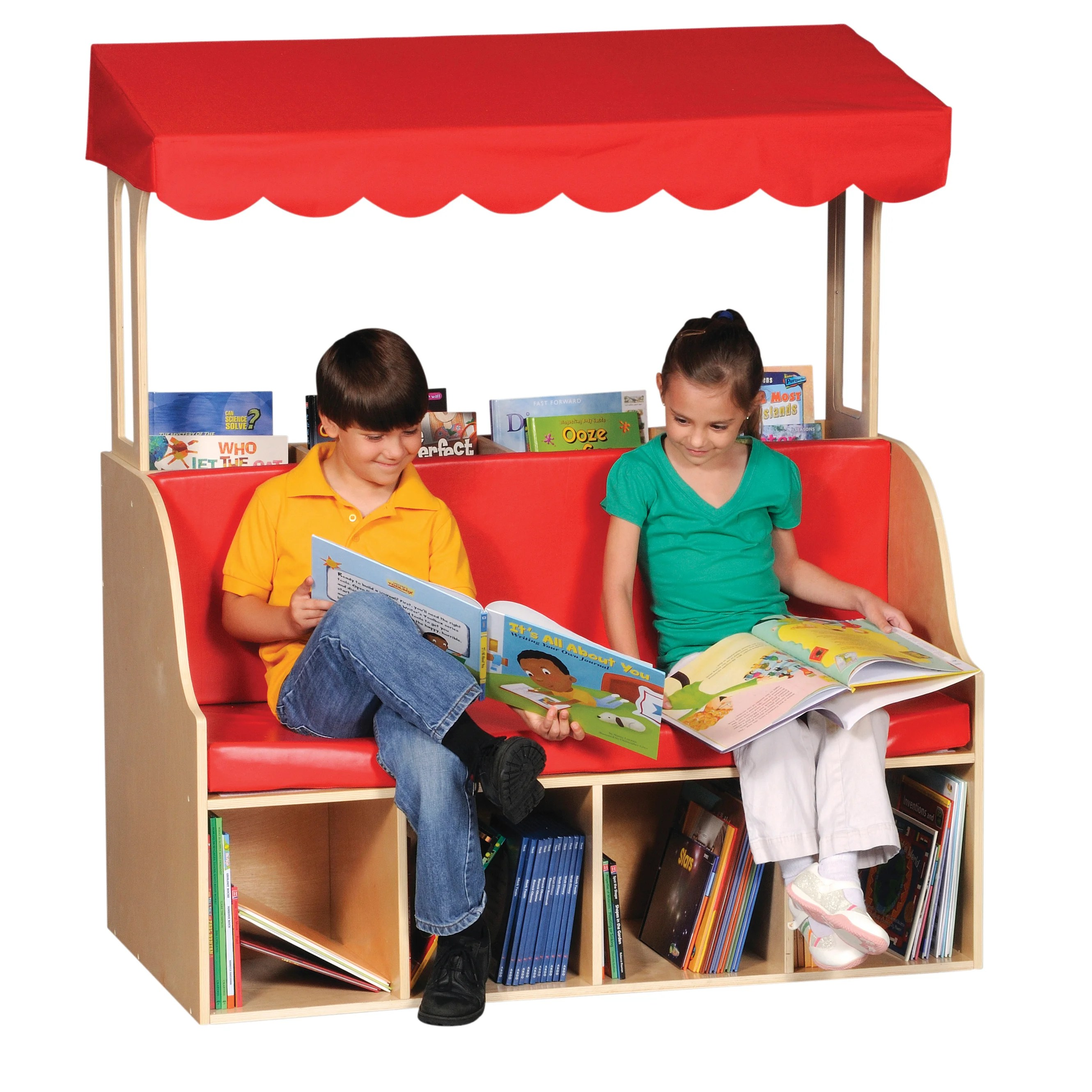 kids chair with canopy furry bean bag chairs canada guidecraft for reading center wayfair