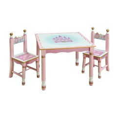 Kids Chair Set Beige Accent Guidecraft Princess 39 3 Piece Table And