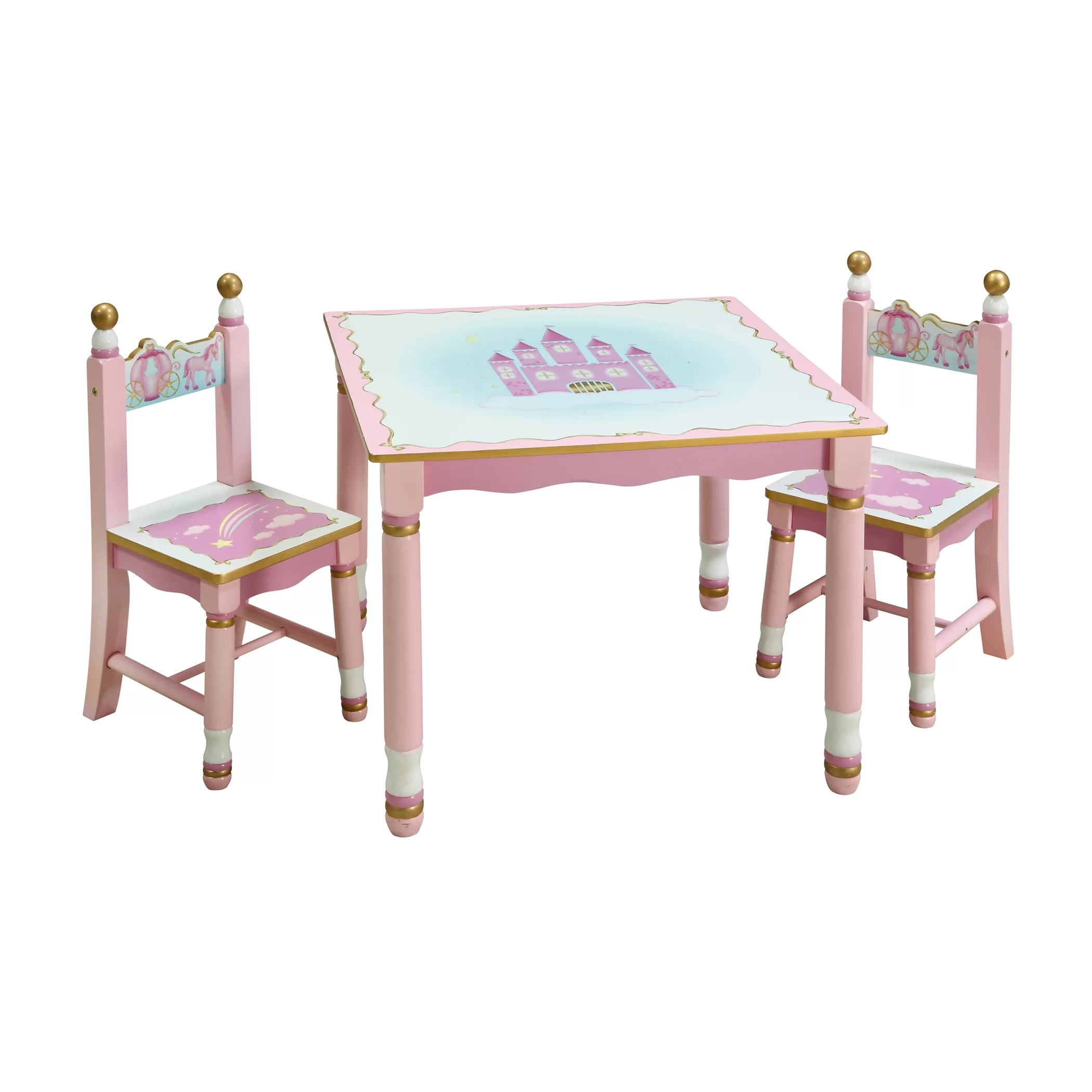 3 piece table and chair set knitted revolving guidecraft princess kids 39