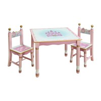 Guidecraft Princess Kids' 3 Piece Table and Chair Set ...