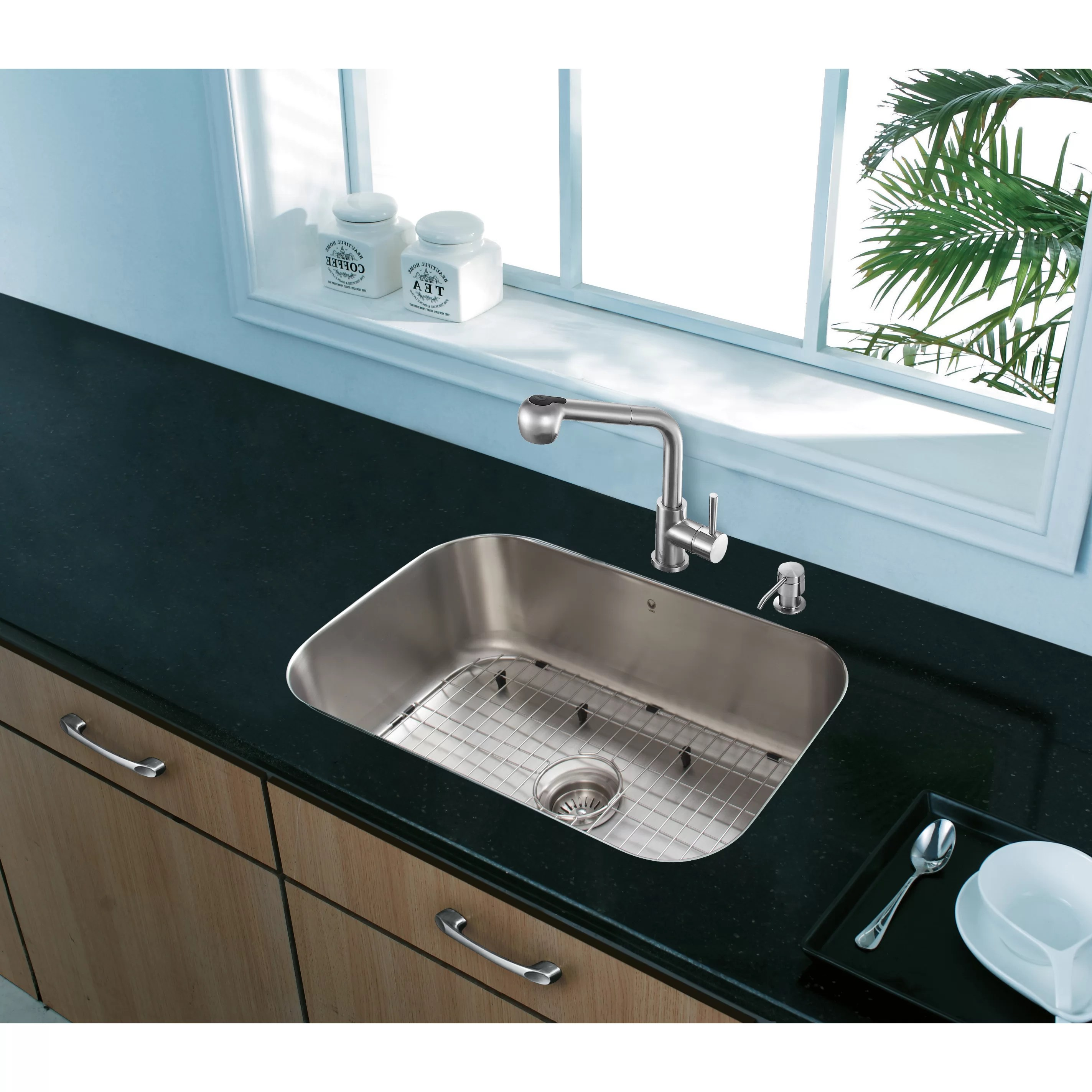 vigo kitchen sinks rectangle table with bench 23 inch undermount single bowl 18 gauge stainless