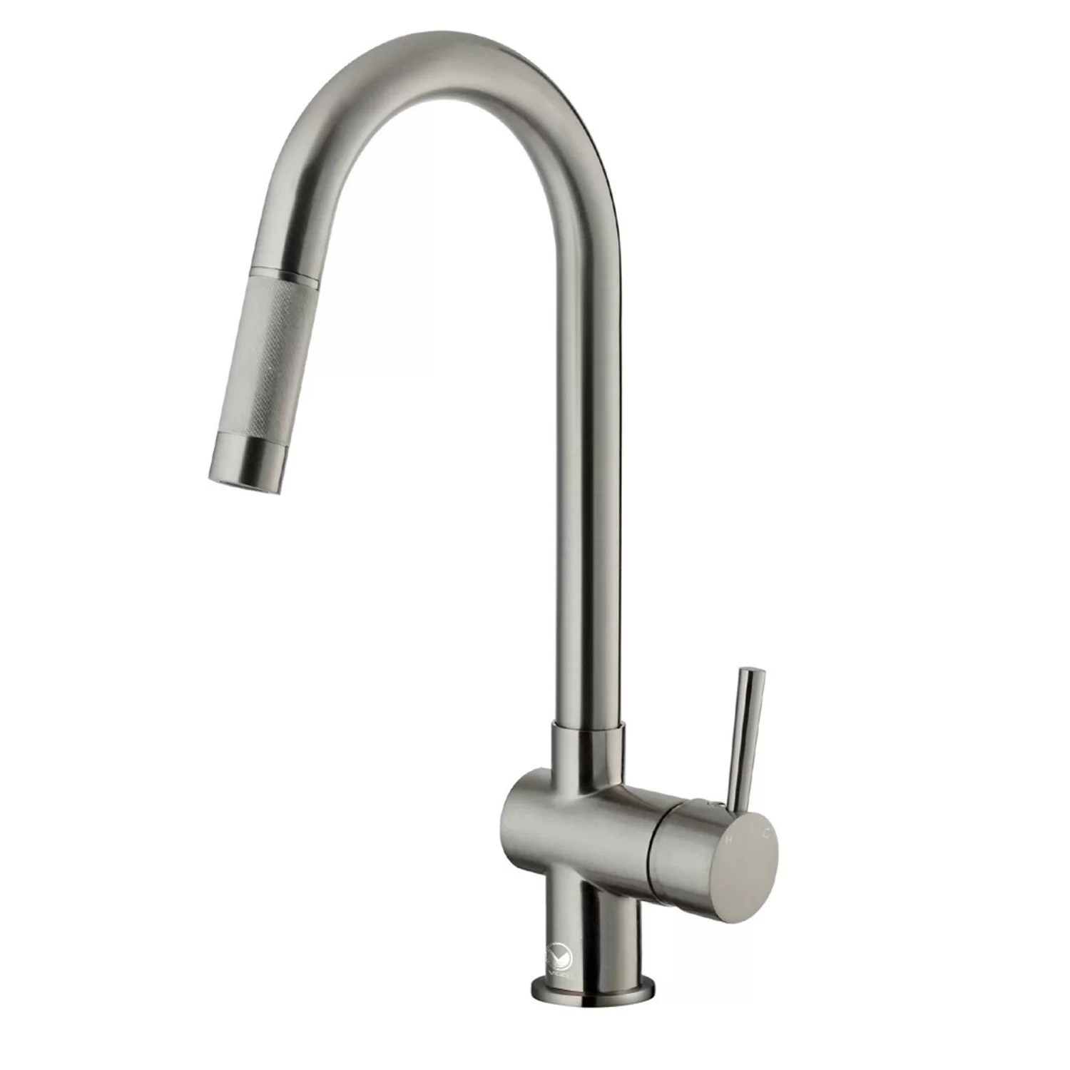 vigo kitchen faucet undermount double sink gramercy single handle pull down