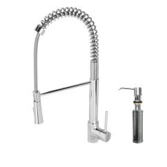 Pull Down Kitchen Faucet Reviews Floating Island Vigo Laurelton Single Handle Spray