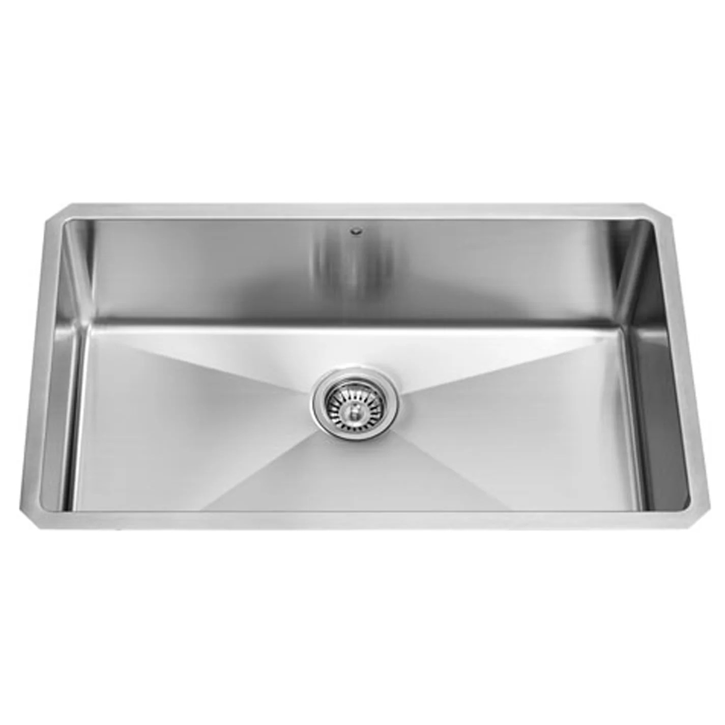 stainless steel kitchen sink reviews layout ideas vigo 32 inch undermount single bowl 16 gauge