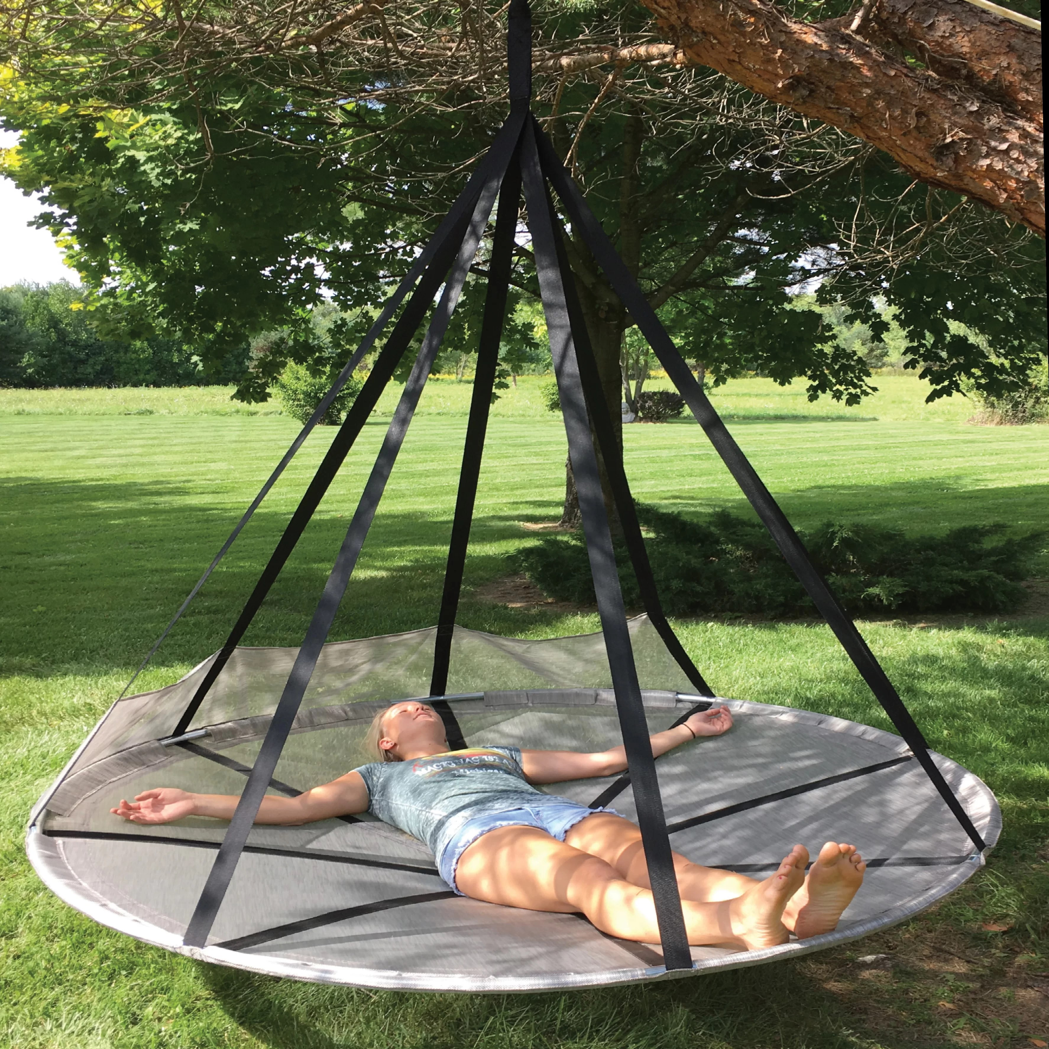 hanging tree swing chair covers in calgary hammock for bedroom
