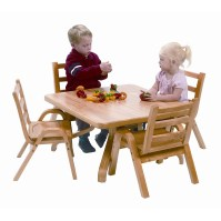 "Angeles NaturalWood 12"" Square Toddler Table And Chair Set ..."