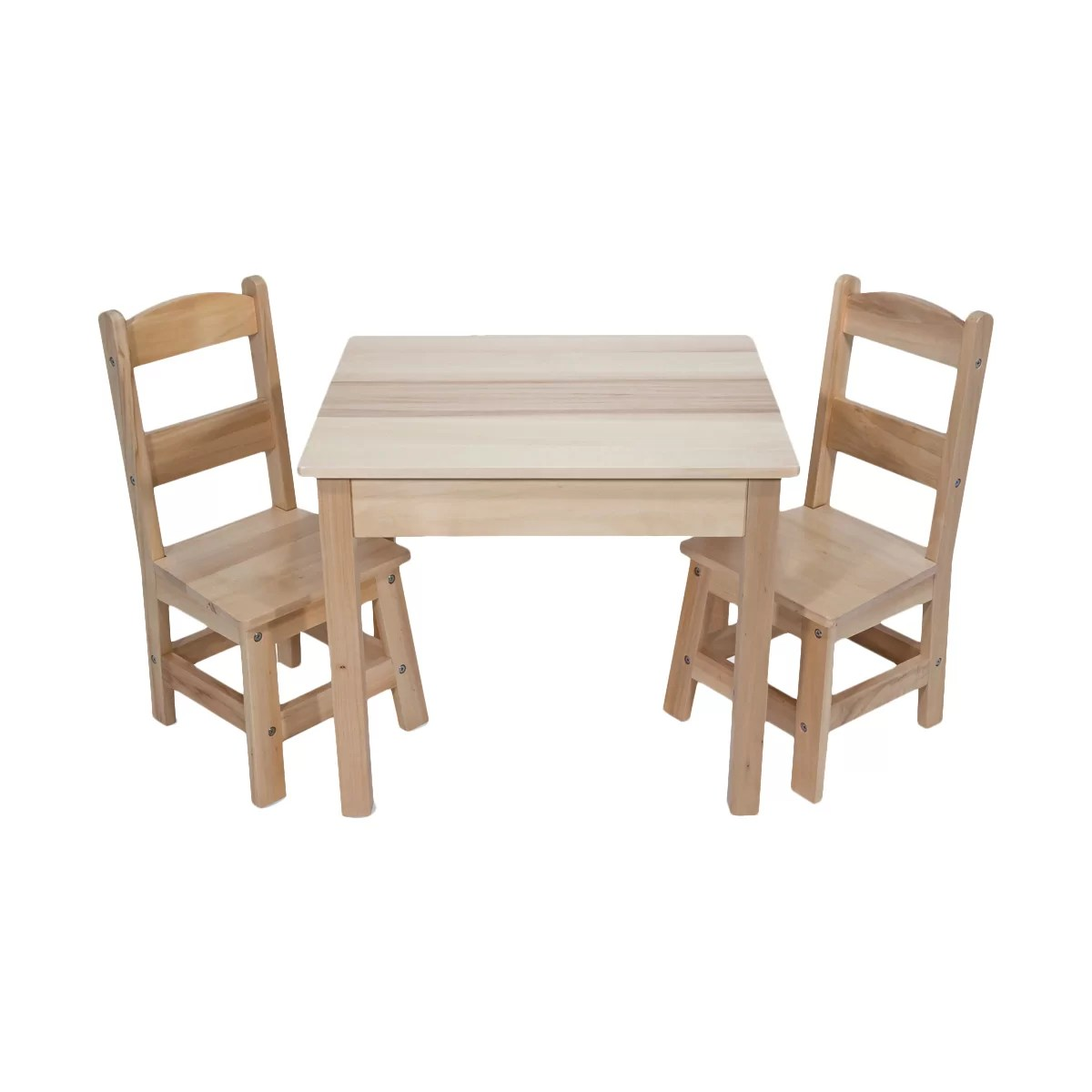 Melissa And Doug Table And Chairs Melissa And Doug 3 Piece Wooden Table And Chairs Set