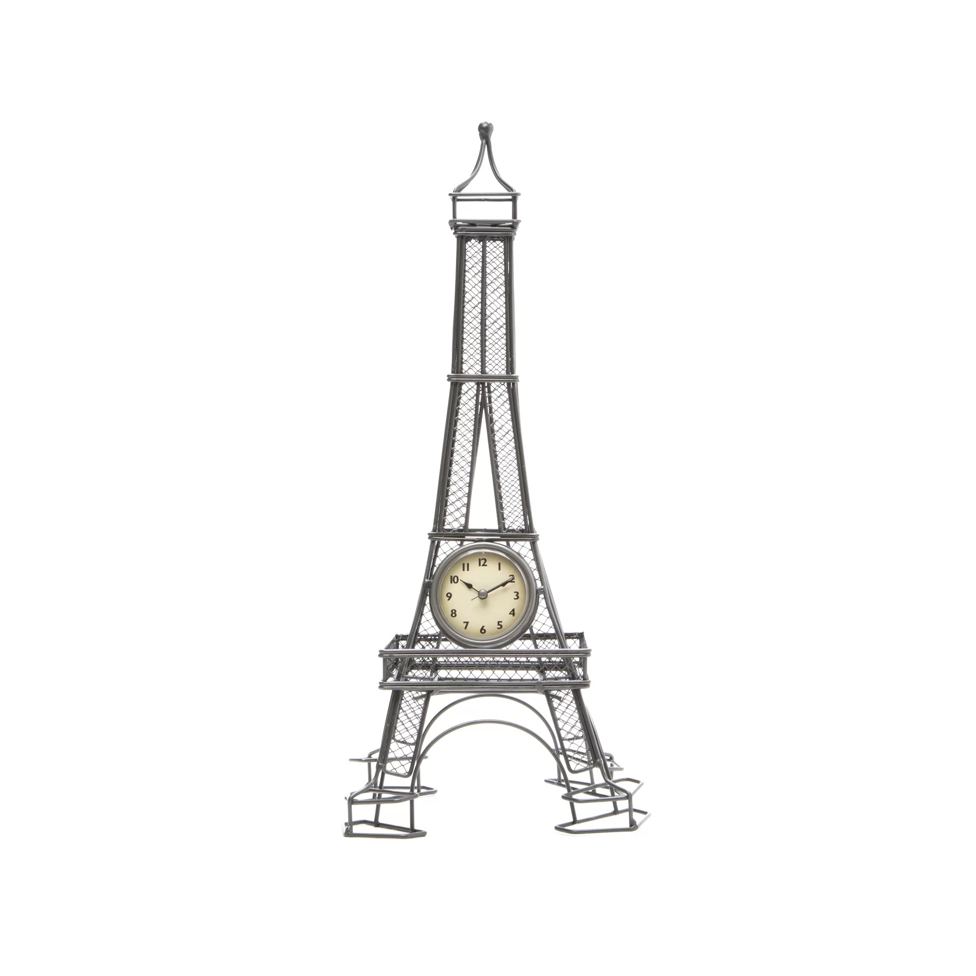 Infinity Instruments Metal Wire Eiffel Tower Table Clock