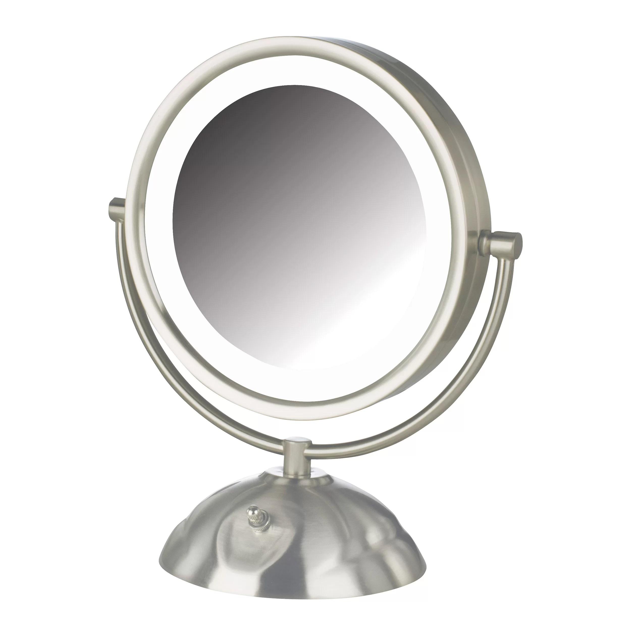 Jerdon 5x 1x Euro Lighted Makeup Mirror  Mugeek Vidalondon