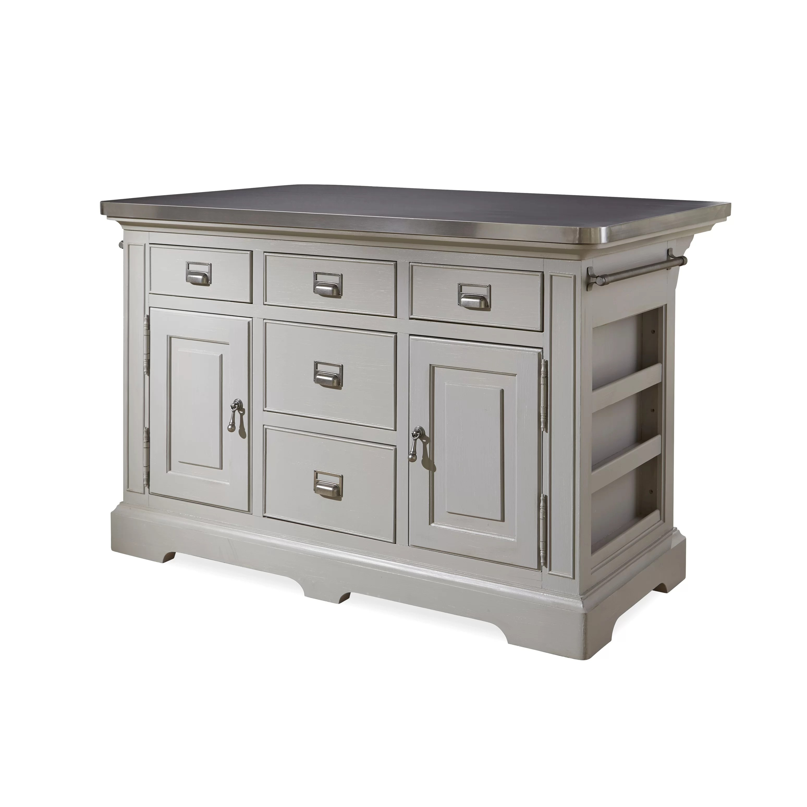 stainless steel kitchen cart with drawers pot racks paula deen home dogwood island