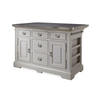 Paula Deen Home Dogwood Kitchen Island with Stainless ...