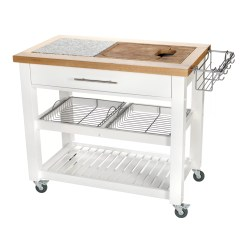 Chris And Kitchen Cart Quartz Top Table Pro Chef Island Reviews Wayfair