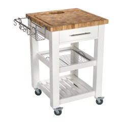 Chris And Kitchen Cart Green Decor Pro Chef With Butcher Block Top