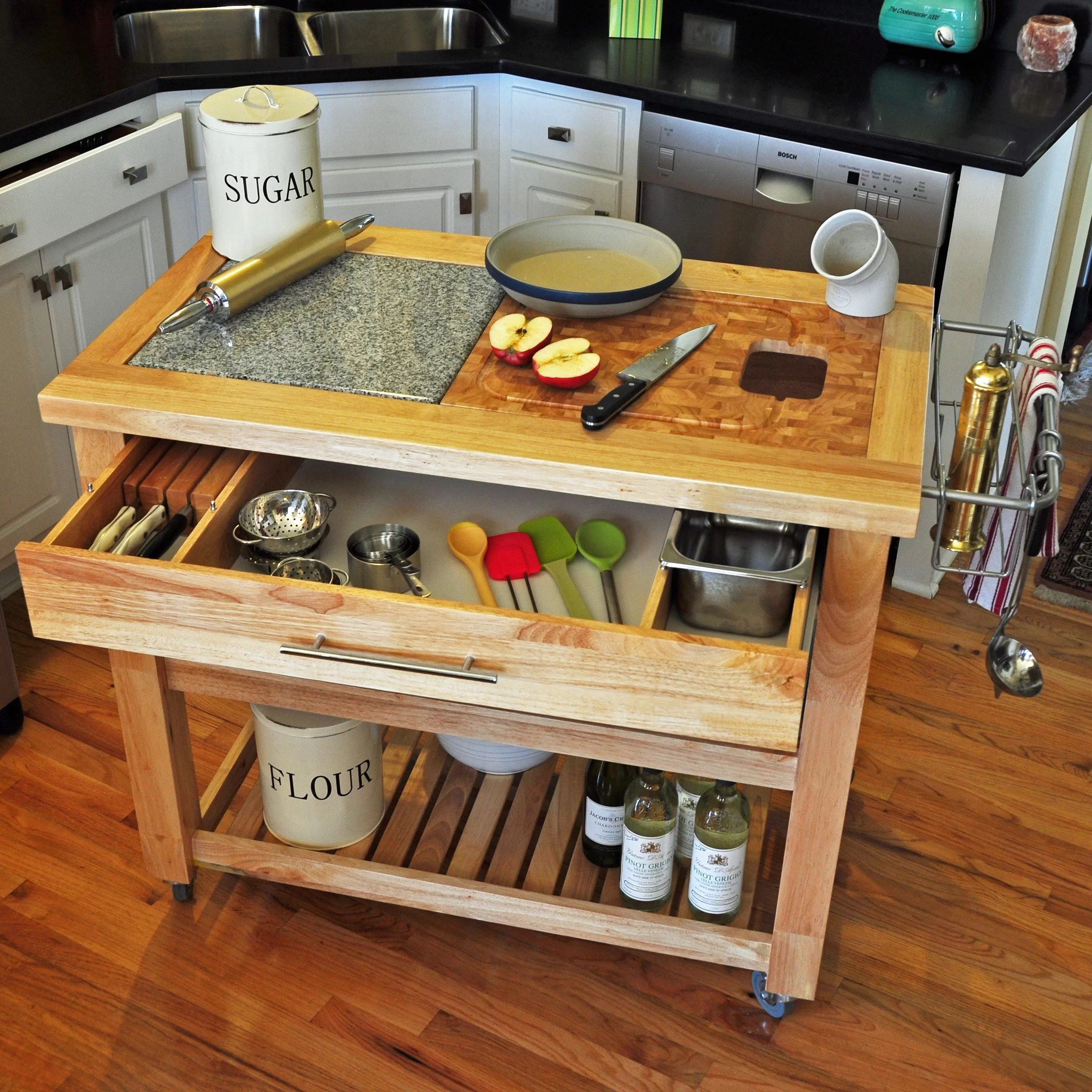 chris and kitchen cart table with chairs pro chef island granite