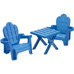 Resin Table And Chairs Set Acorn Chair Lift American Plastic Toys 3 Piece Adirondack