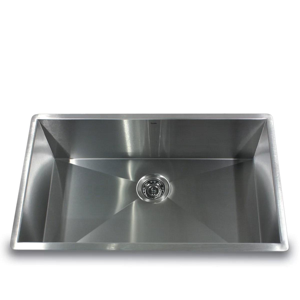 single bowl kitchen sinks discontinued cabinets nantucket 32 quot x 19 zero radius