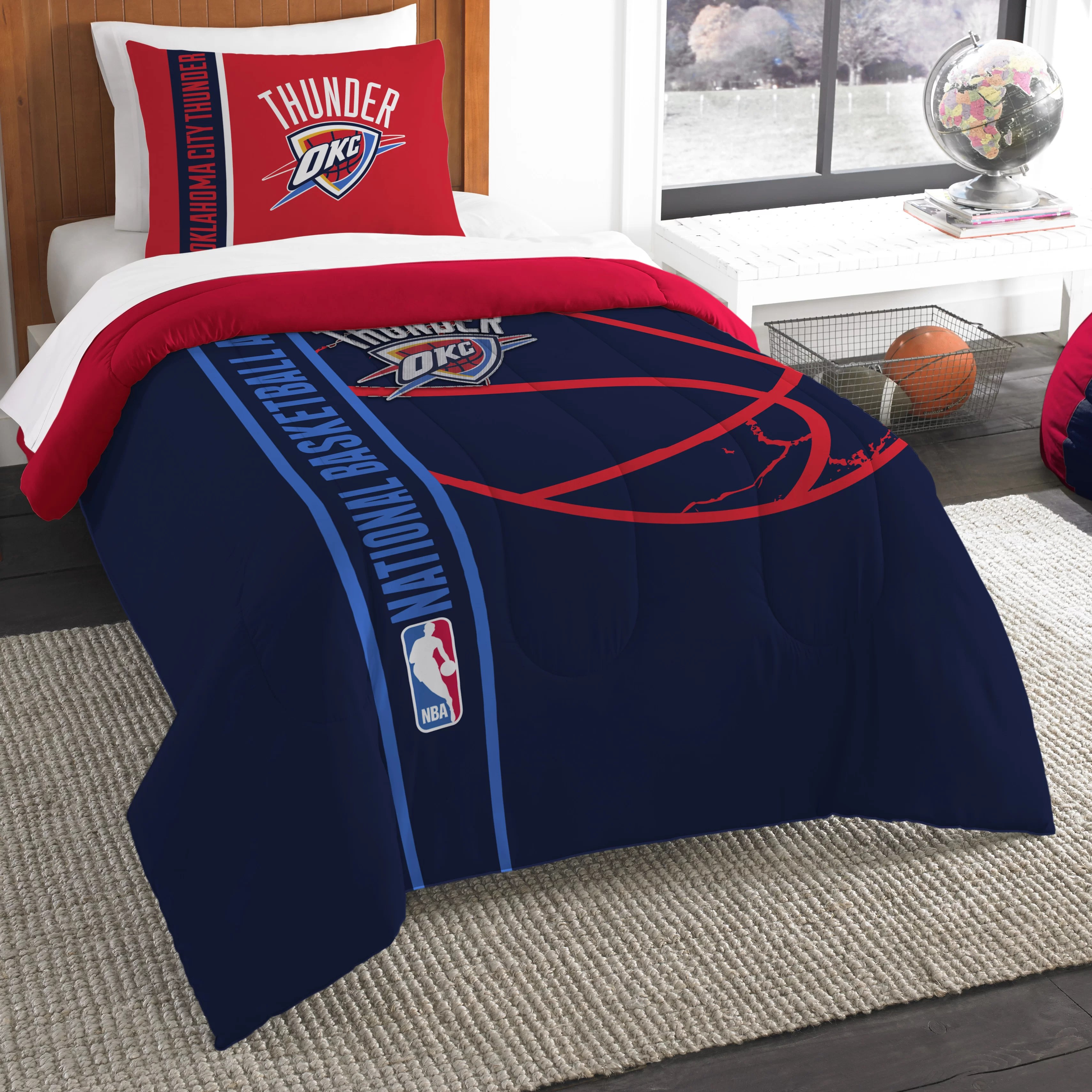 Northwest Co. NBA Thunder Basketball Comforter Set