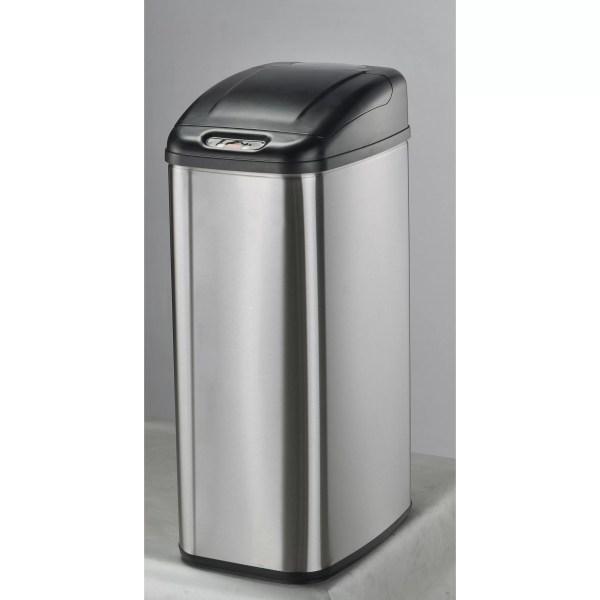Nine Stars 13.2 Gallon Motion Sensor Stainless Steel Trash &
