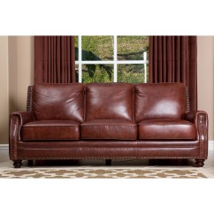 Abbyson Leather Sofa Reviews Ez Bed Living Bel Air And Wayfair