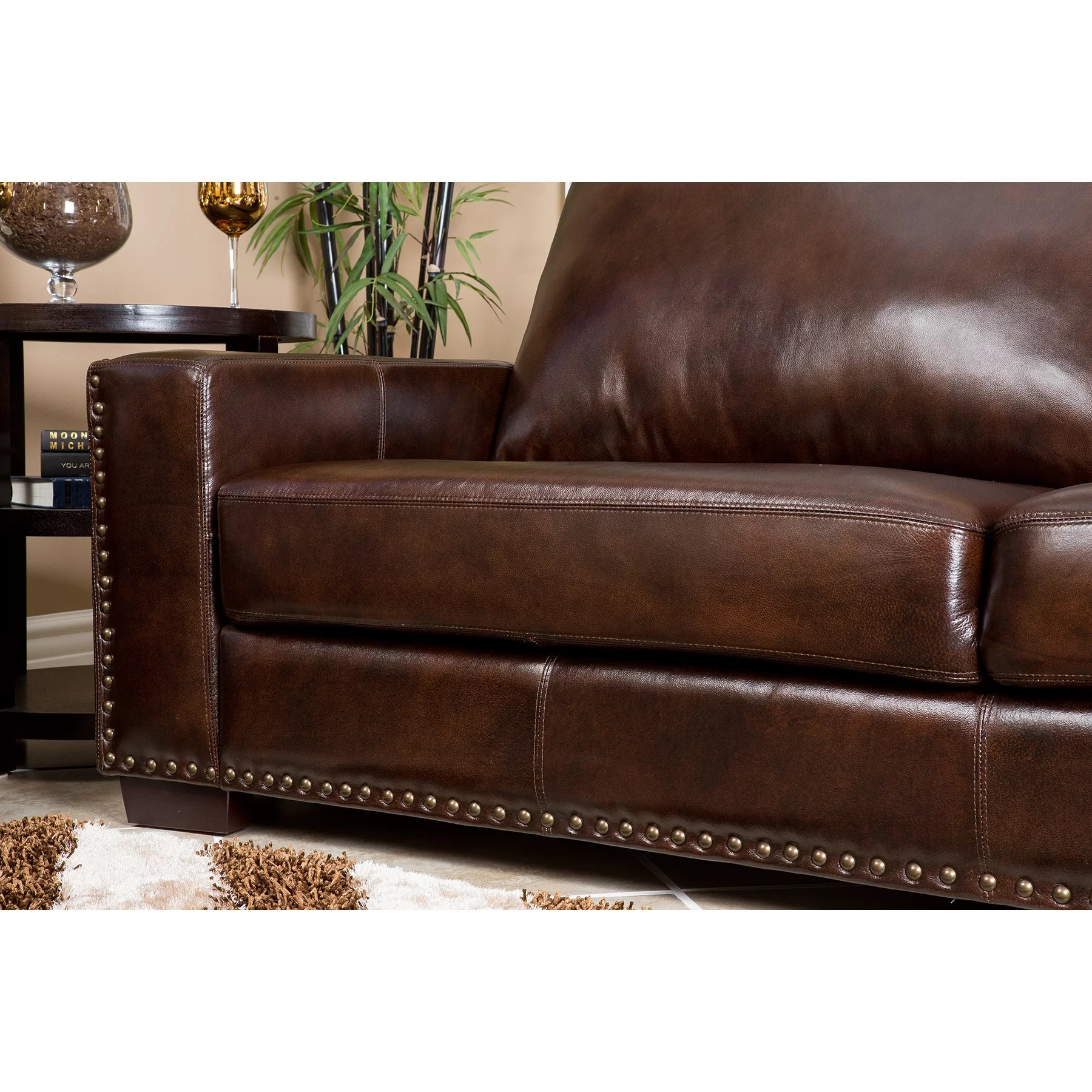 abbyson leather sofa contemporary corner beds living beverly loveseat and reviews wayfair