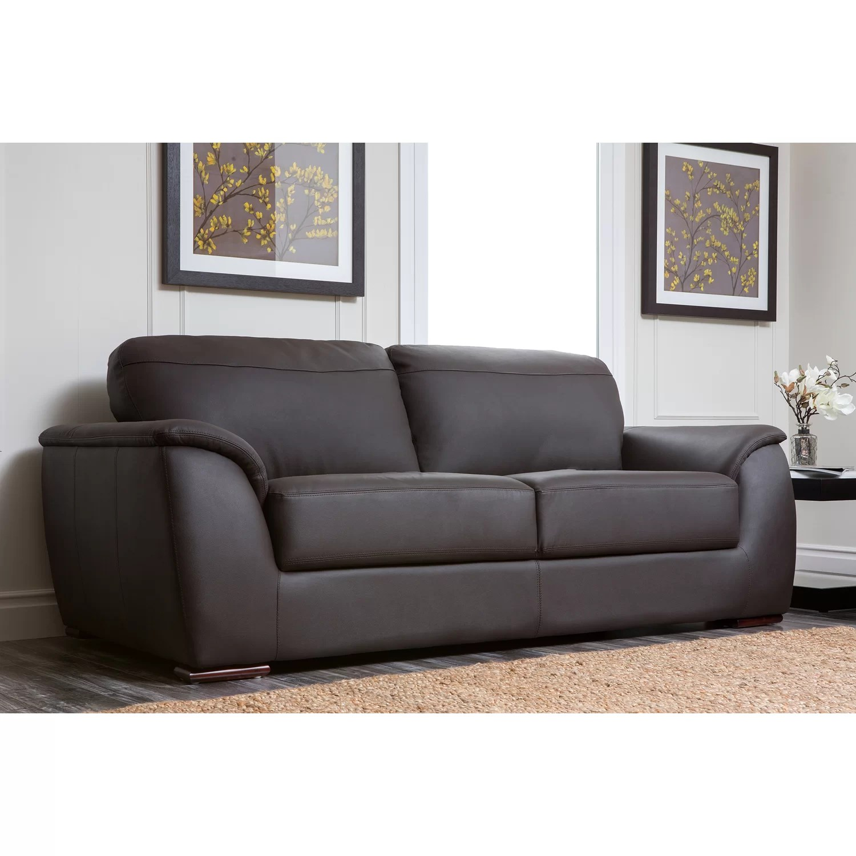 abbyson leather sofa affordable tufted living ashton and reviews wayfair