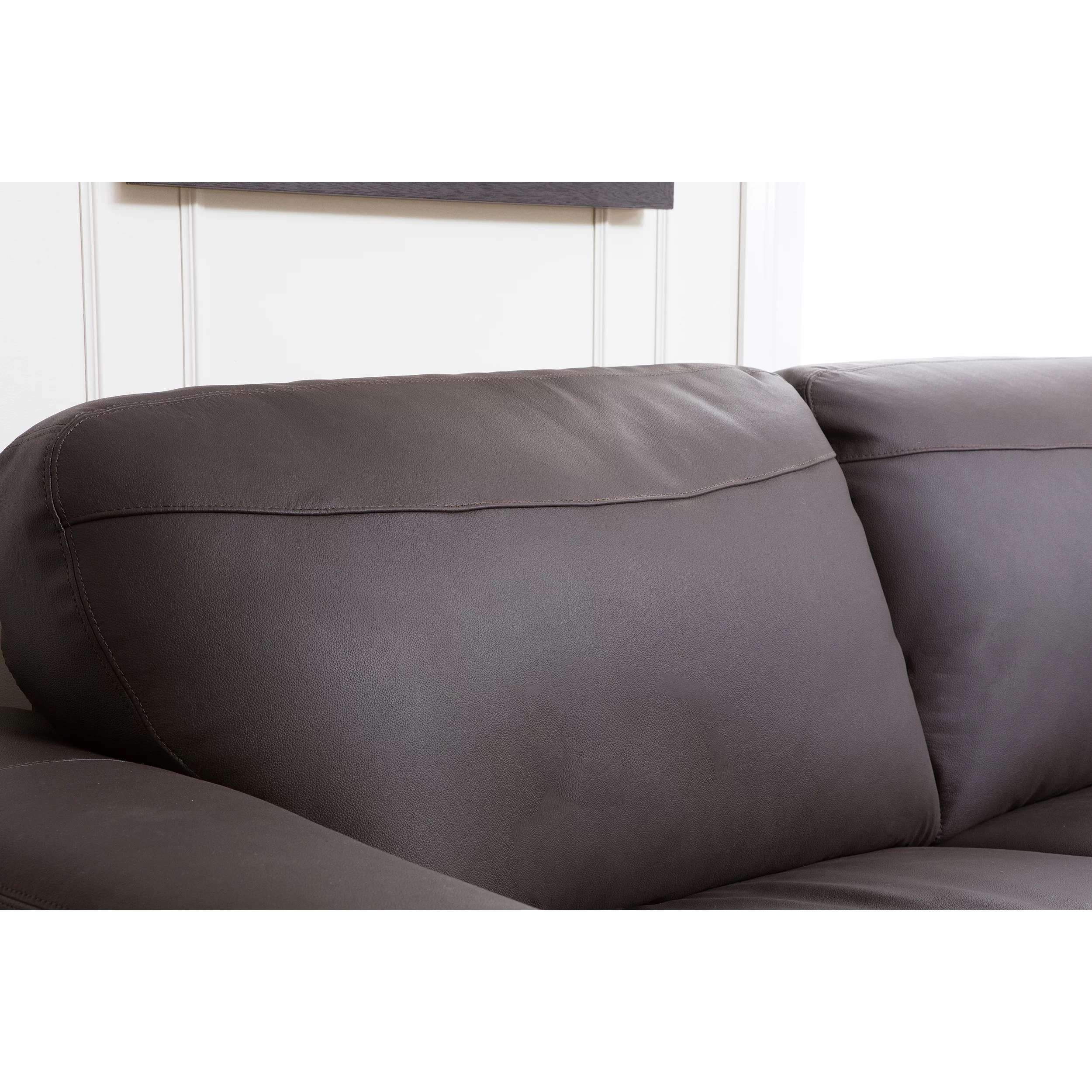 abbyson leather sofa reviews nova black and white corner right hand living ashton wayfair