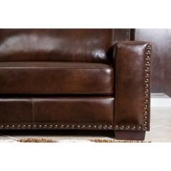 Abbyson Leather Sofa Reviews Mid Century Australia Living Beverly Loveseat And Wayfair