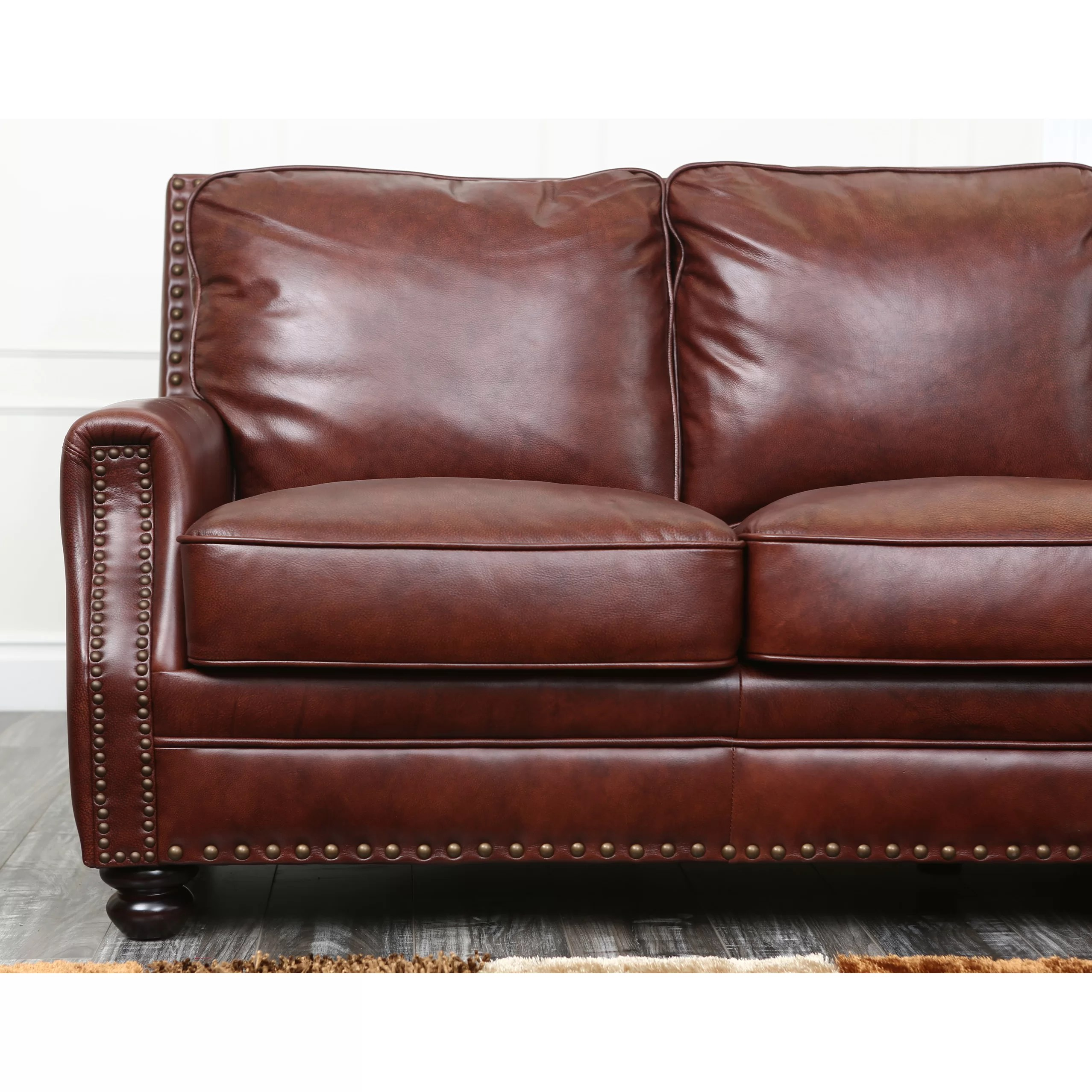 abbyson leather sofa reviews white brocade living bel air and wayfair