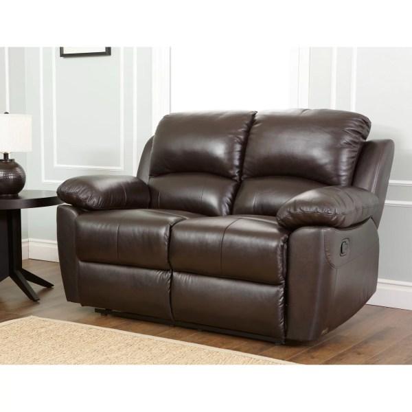 Abbyson Living Westwood Leather Reclining Loveseat &
