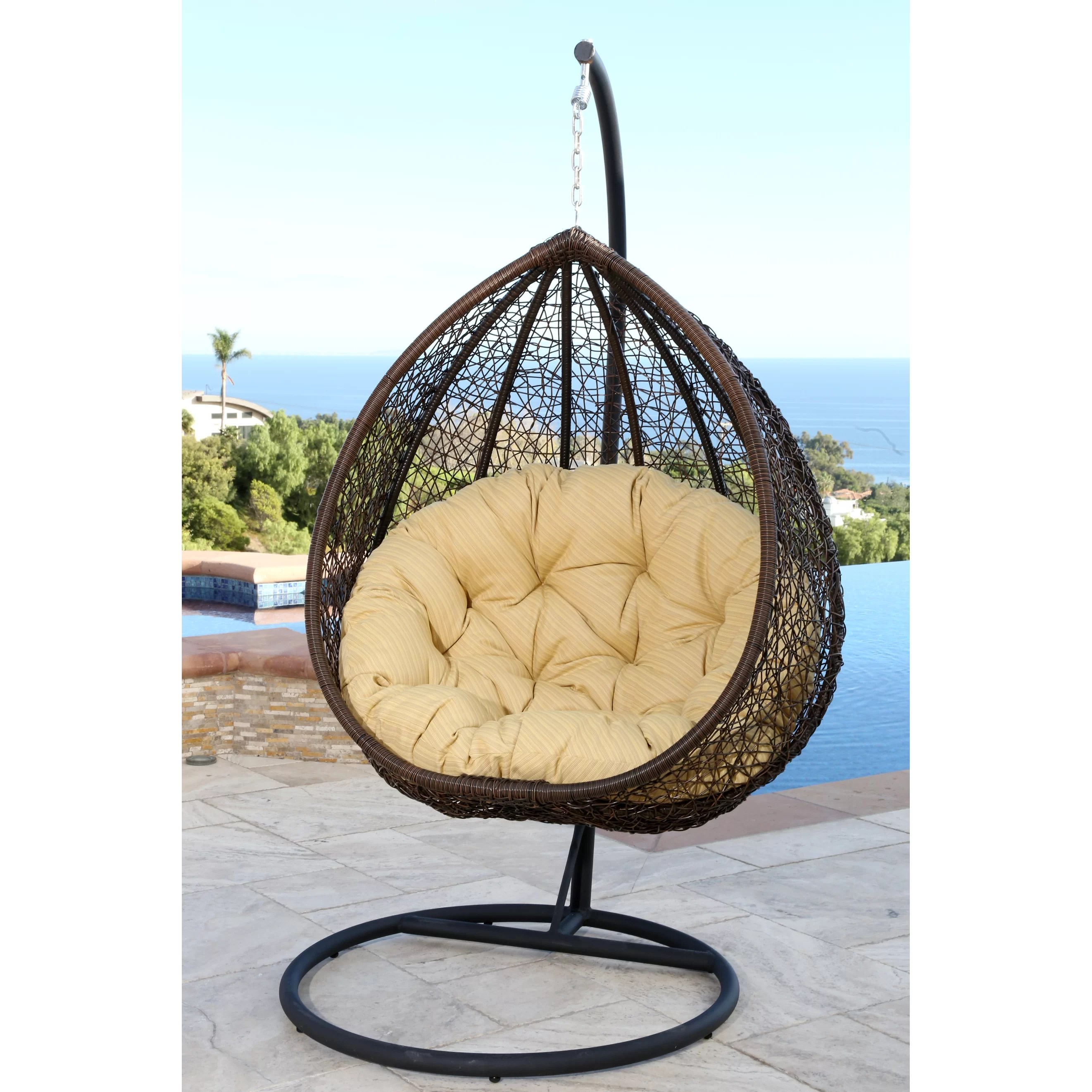 swing chair wayfair diy slipper covers abbyson living sonoma and reviews